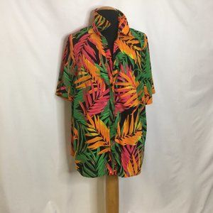 Shirt Blouse Summer Leaf Design Vacation